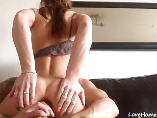 Very hot sisters firend takes my big boner in her tight delicious asshole