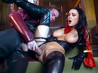 Brunette with heavy tits screams and shakes in extreme scenes while being fucked by her super her, a man with huge dick, hungry enough to smash her whole cunt