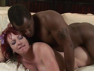 Big black fucker Tyler Knight is wearing asshole of sweet redhead Kylie Ireland in doggy style