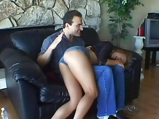 This guy is fingering and eating Tianna Lynn's smooth box after she smokes a cigarette in this video in HD.