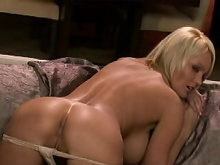 Check out Hanna Hilton in this solo video showing her big tits and nice ass while stimulating her shaved pussy.
