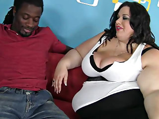 Deserie is getting her cunt pounded by a big black cock in this interracial video and giving a titjob till getting a facial.