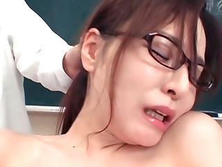 Busty Teacher Abused and Jizzed On By Many Students