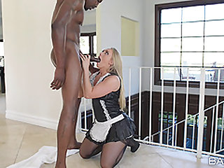 French maid AJ Applegate fucked by a massive black dick