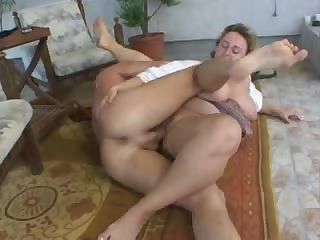 Chubby German babe gets fucked before getting a mouthful