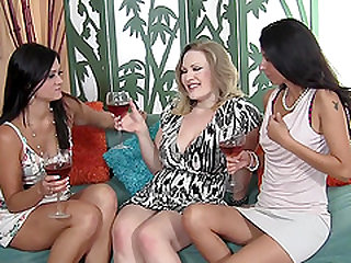 Three MILFs Sharing A Fat Cock