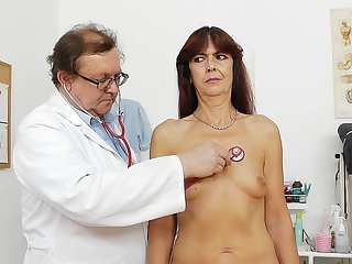 Hardcore doctor with filthy minds in his head is poking mature pussy of redhead Lada