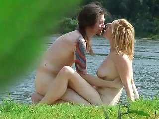 Take a look at the vulgar spectacle with charming playful beauty which was fucked outdoors