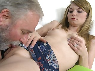 Hardcore young model Sveta is getting her nice pussy licked and fucked with force