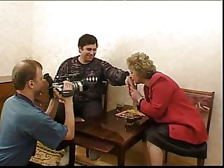 russian granny and boy..the making of....kinda