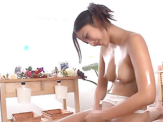 Mizuki Miri is an oiled up chick in need of a stiff dick