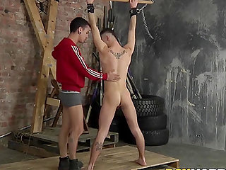 Michael Wyatt and David Paw bang in the sex dungeon