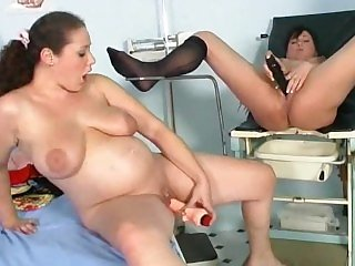 Sexy Pregnant Women Have Fun On Gynecological Chair