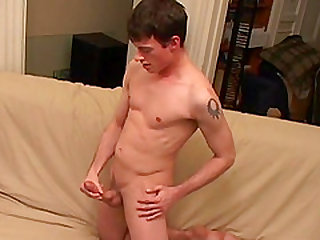 Welcome to Adrian for his first jerk off on camera