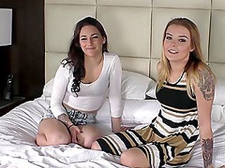 Taylor and Ashe bend over for a lucky fellow's pulsating dick