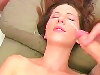 Covering Young Teen's Face With Cum