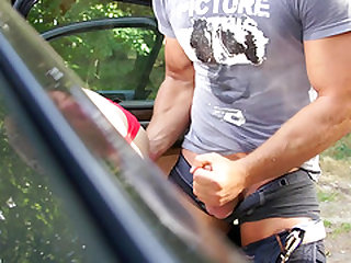 Picking up a street whore to drain her little soaking wet pussy