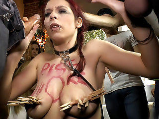 The Ultimate Humiliation - Natural Busty Piss Whore Fisted and Fucked