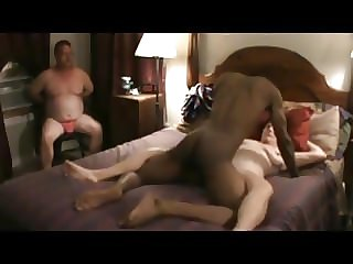 Cuck watching Wife Fucked by BBC (Interracial Cuckold)
