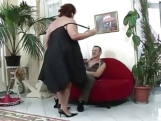 Big fat bitch drilled hard on her big