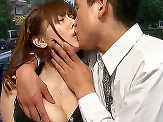 Sexy babe with big naturals Yuma Asami gets to ride on cocks