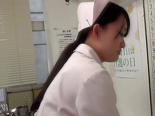 Japanese nurse attacked by a nasty fellow for a shag