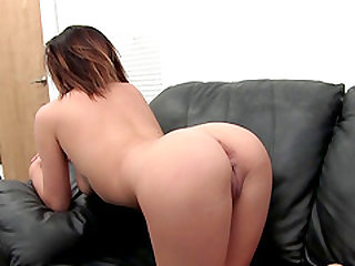 Sammie gives her dripping coochie to the cameraman doggy style