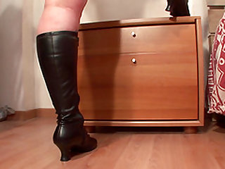 Charlott is a sweet blonde in boots yearning to have an orgasm