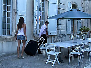 Classy rich blonde Aleska Diamond fucking her husband and a butler
