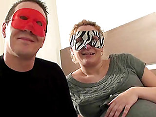Moin is a blonde chick with a mask who craves a sex game