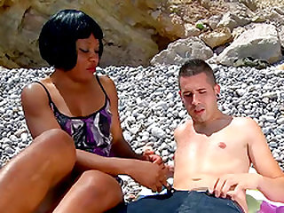 Nancy Love and Kevin White shagging at the beach and having fun