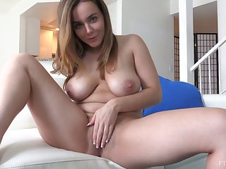 Sexy chick with a hairy snatch and one of her masturbation sessions
