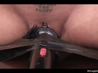 Vixen bound gagged spanked whipped nipple-clamped vibed