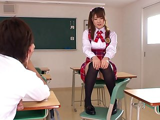 It is time for the cute Momoka to be shagged in the classroom