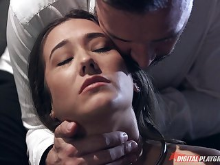 Milf stays after work for a big dick fucking in the office