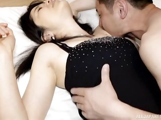 Fingering his juicy pussy Japanese girl and fucking her