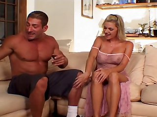 Being banged by two dicks at once brings her tremendous pleasure