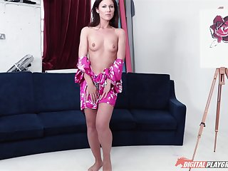 Provocative brunette chick finally tries out the anal kind of shagging