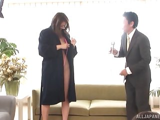 Grand orgy with sexy Jun Harada and her magnificent hairy pussy