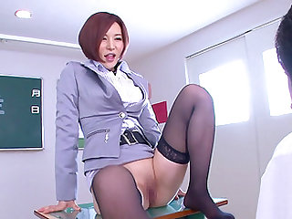 Yuria Satomi spreads her legs for a randy fellow for a sex session