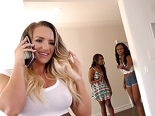 Cali Carter and Jezabel Vessir join a chick for a hot threesome