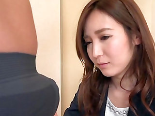 Japanese office worker cannot wait to be ravished hardcore