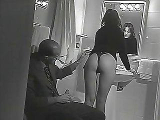 blackmailed to satisfy him while her bf is waiting next door