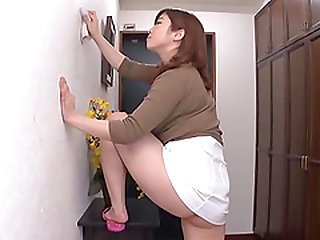 Nakamura Chie is a chick in a white skirt craving to be fucked well