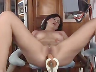 Nasty masturbation session is all a hot brunette craves