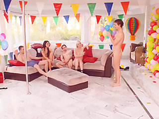 Cherry Torn joins her horny friends for a nasty orgy session