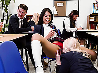 Good-looking Gina Valentina in an unforgettable classroom orgy