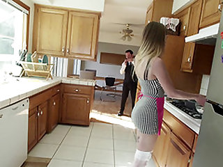 Classy wife Sydney Cole gets to feel Tommy Pistol's giant dick