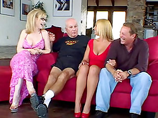 Stunning blonde fucked well in front of a randy mature couple