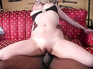 Interracial cuckold session with insatiable blonde Candy Monroe
